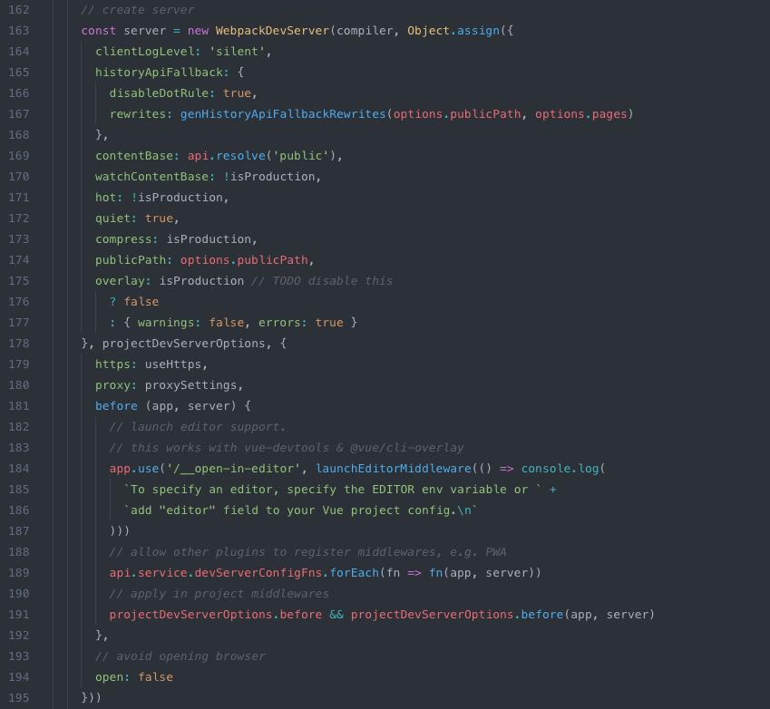 create webpack server